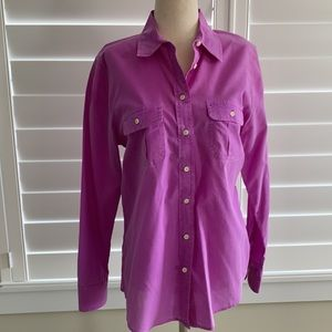 Pink washed out button up shirt, size XS. Gap